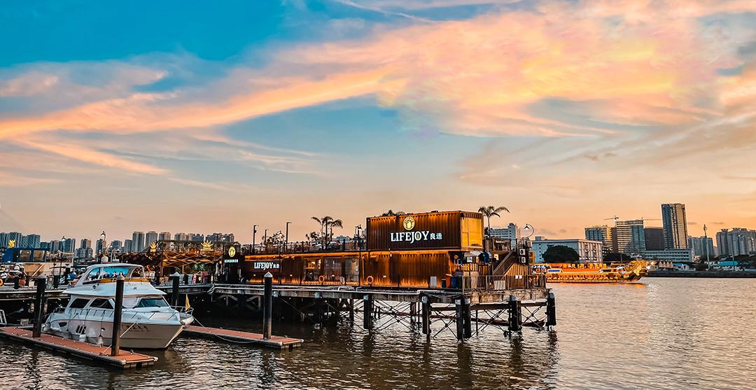 5.29游览太古仓码头,港口、涂鸦、酒吧街,美丽的珠江日落黄昏