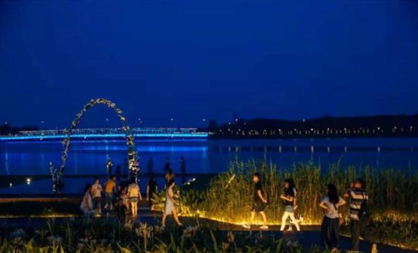 深圳必去的夜景公园,看人才公园夜景
