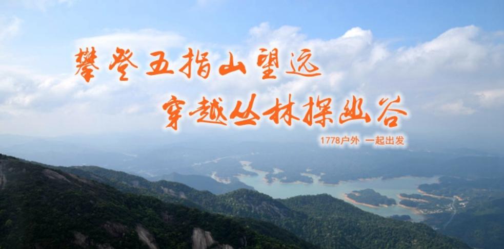 3月7日周日 攀登五指山望远 穿越丛林探谷